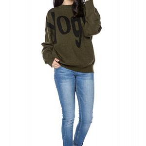 high quality knitted oversize jumper khaki roh br2298 9257 1