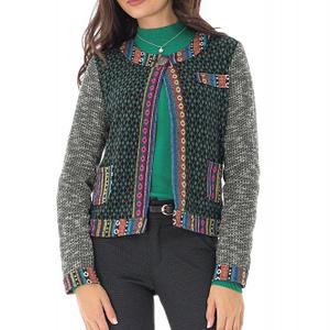 jacheta verde cu motive multicolore roh jr481 8908 1