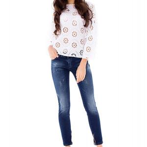 jeans skinny roh cu efect de pete tr220 6715 1