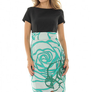 midi dress contrast skirt roh cld1144 8605 1