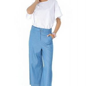 pantaloni albastri roh largi tr263 7275 1