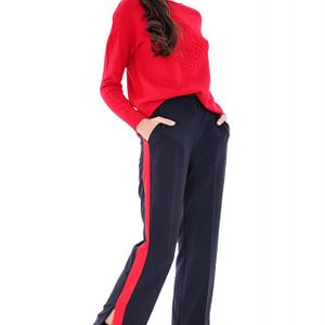 pantaloni bleumarin cu dunga tr180 5895 1