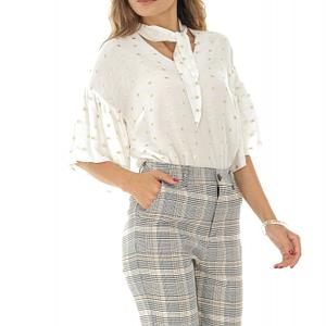 pantaloni conici in carouri roh tr321 8569 1