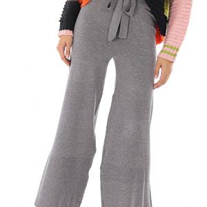 pantaloni gri evazati tricotati roh tr340 8900 1