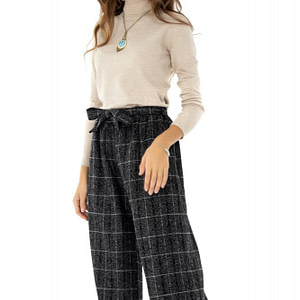 pantaloni gri roh in carouri tr290 7662 1