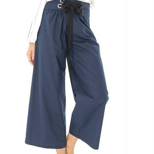 pantaloni lungi bleumarin cu talie inalta roh tr307 8274 1