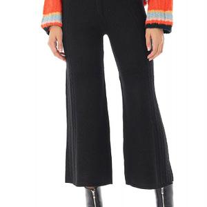 pantaloni negrii tricotati roh tr341 8897 1