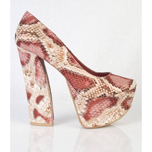 pantofi cu imprimeu de sarpe anne 01 rd 5676 1