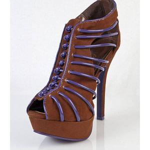 pantofi maro cu albastru sigma blw 5684 1