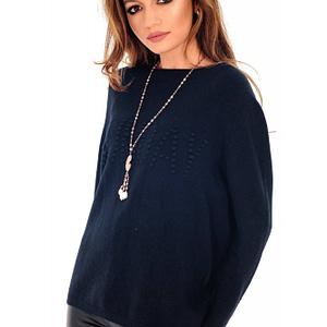 pulover bleumarin roh catifelat si calduros br2012 7929 1