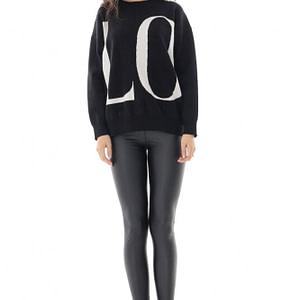pulover de dama moale roh negru oversize roh br2383 9683 1