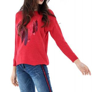 pulover finut roh imprimeu pene br1673 6644 1