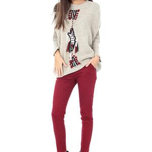 pulover gri cu model br1147 4687 1