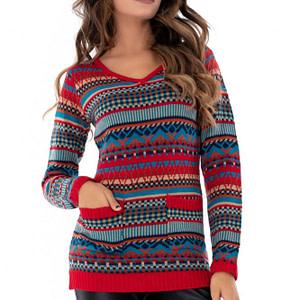 pulover multicolor roh cu buzunare br1901 7583 1