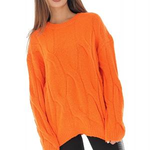 pulover portocaliu tricotat br2171 8777 1