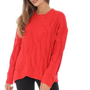 pulover rosu tricotat br2172 8778 1