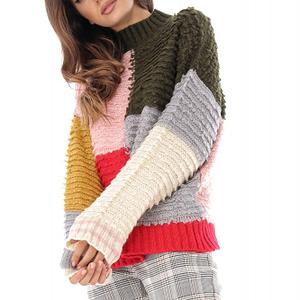 pulover roz kaki pufos roh br2156 8713 1