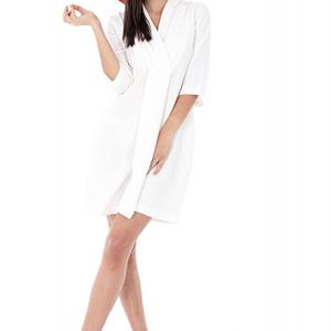 rochie alba cu gulerul petrecut cld531 5521 1