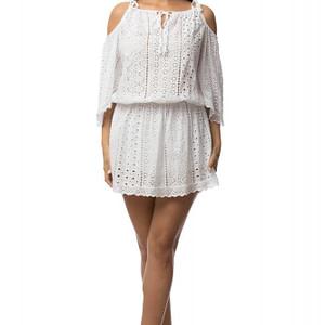 rochie alba delicata cu bretele dr2901 5624 1