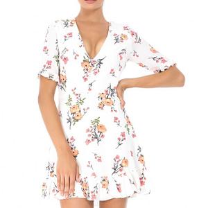 rochie alba roh cu flori dr3250 6614 1