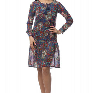 rochie albastra cu imprimeu dr2921 5695 1