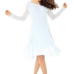 rochie albastra cu maneci lungi dr2975 5847 1