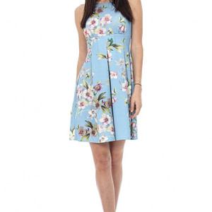 rochie albastra deschis cu flori cld375 5249 1