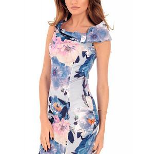 rochie albastra florala roh bodycon dr3686 7968 1