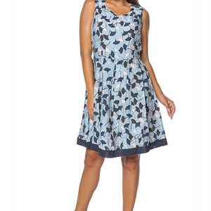 rochie albastra roh cu imprimeu dr3502 7513 1
