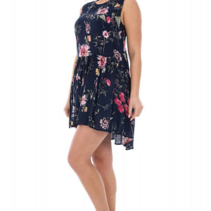 rochie bleumarin cu imprimeu floral dr2787 5144 1