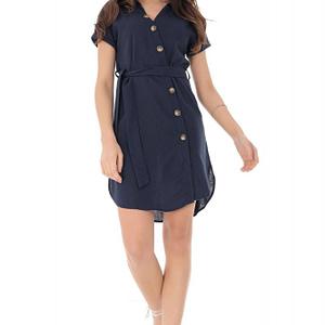rochie bleumarin cu maneci scurte roh dr4098 9213 1