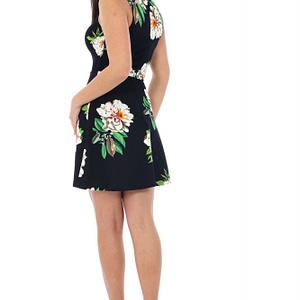 rochie bleumarin inchis cu imprimeu dr2786 5143 1