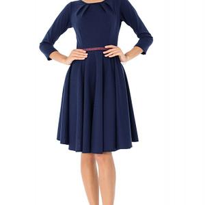 rochie bleumarin roh cu bentita in talie dr3533 7522 1