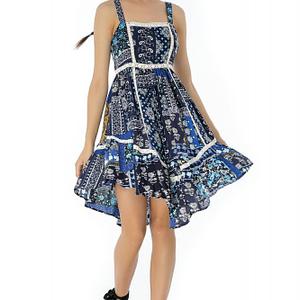 rochie bleumarin roh cu bretele dr3439 7286 1