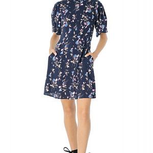rochie bleumarin roh cu maneci largi dr3436 7269 1