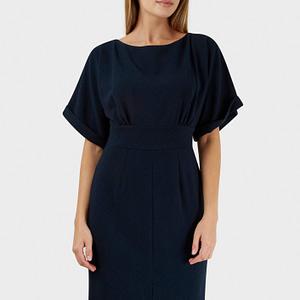 rochie bleumarin roh cu maneci scurte cld1052 7685 1
