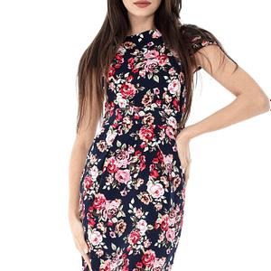 rochie bleumarin roh imprimeu floral dr3325 6837 1