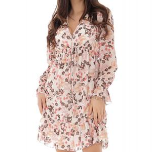 rochie crem cu imprimeu floral roh dr4115 9172 1