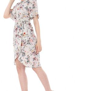 rochie crem imprimata floral dr2876 5568 1