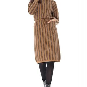 rochie cu guler inalt cu doua buzunare frontale roh dr4016 8950 1