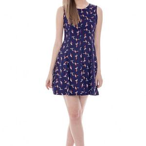 rochie cu imprimeu birds dr2406 4080 1