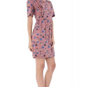 rochie cu imprimeu telefon dr2416 5559 1