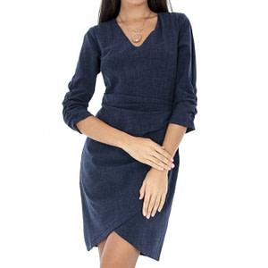 rochie cu maneci incretite dr3160 6299 1
