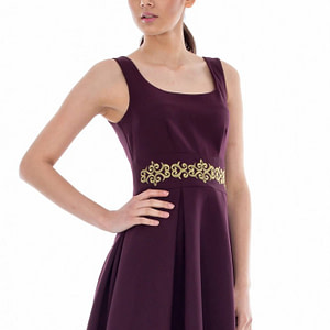 rochie de ocazie cu broderie aurie cld045 3676 1