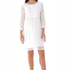 rochie de vara cu bolero din dantela alba cld1003 9488 1