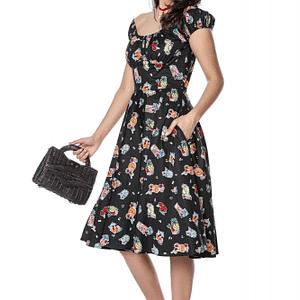 rochie de vara neagra din bumbac roh dr4133 9241 1