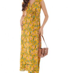 rochie galberna cu imprimeu floral multicolor roh dr4121 9232 1