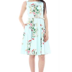 rochie gri deschis florala dr2905 5652 1