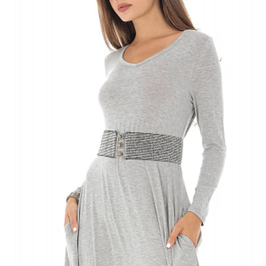 rochie gri maxi din jersey roh dr3949 8736 1