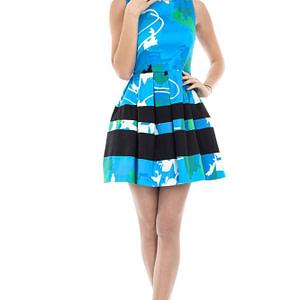 rochie imprimata din bumbac dr2758 5012 1